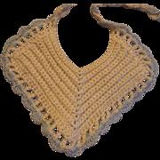 Doll Size Crocheted Bib