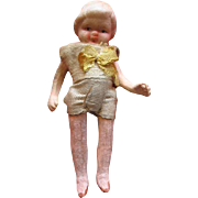 Miniature Pin Jointed Bisque Dollhouse Doll