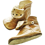 Vintage Baby Boots or Shoes with Fold Down Fronts