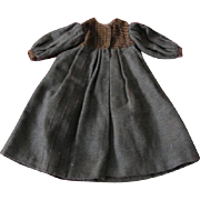 Old Handmade Brown Wool Coat for Doll