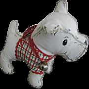 Vintage Toy Puppy Scottie Dog 1950s Era