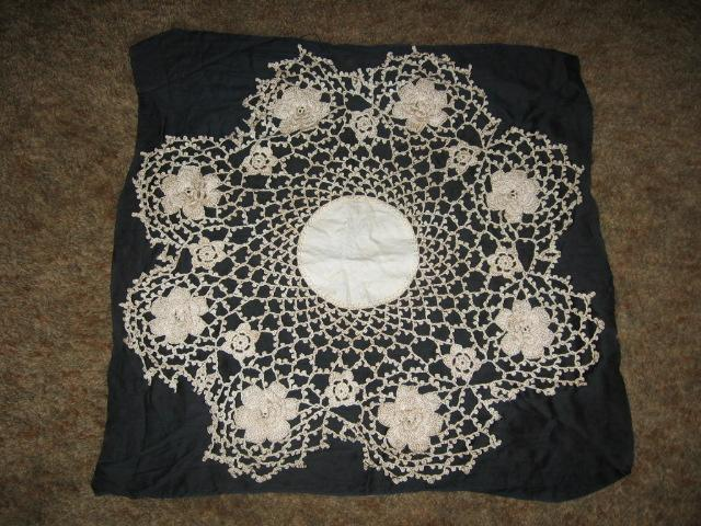 Stunning Large Crocheted Floral Fancywork Beauty!