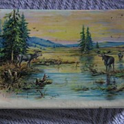 REDUCED Celluloid Autograph Book with Folk Art Original Drawing