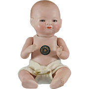 All-Bisque Swivel Neck Bye-Lo Baby 6.5 Inches Full Costume Included
