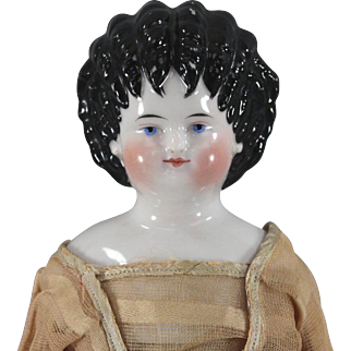 REDUCED c1860 China Head Curly Top All Antique Gorgeous