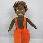 "REDUCED Norah Wellings Cloth Doll Black Islander 14"" All Original"