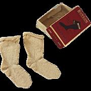 SALE Antique Doll Socks in Original Box Burson