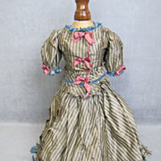 REDUCED Antique Silk Doll Dress Two Pieces Lined and Lovely