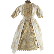 SALE Antique Doll Dress and Undergarments Set of 4 Pieces