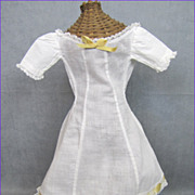 REDUCED Couture Doll Dress or Undergarment Gorgeous White Lawn
