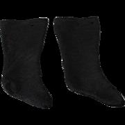 REDUCED Antique Doll Socks Black Stockinette Early
