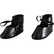 REDUCED Vintage Doll Shoes Faux Leather 3-1/8 Inches Long