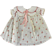 REDUCED Vintage Doll Dress & Slip 1930 - 1940 for Patsy type Doll