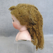 "Curly Mohair Doll Wig 8"" Circumference Long Curls"