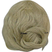 Antique Mohair Doll Wig Blonde with Pate Small Size
