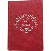 "REDUCED Miniature Book ""Life of Weber"" The Petite Library"
