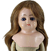 REDUCED Papier Mache Schilling Type Doll 13 Inches
