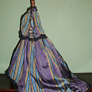 Lovely Vintage Silk 2pc French Fashion Doll Dress