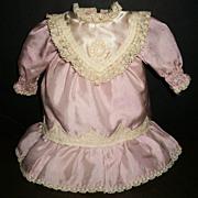 Pretty Pink Small Vintage Doll Dress, Kestner, Handwerck