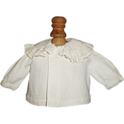 Sweet Small Antique Pique Doll Jacket, Baby, Troussea