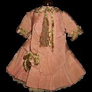 Beautiful Silk French Bebe Doll Dress