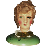 Wonderful Vintage German Boudoir Doll Hat Stand w Hat