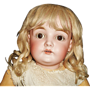 SOLD Nice Vintage Light Blond Mohair Doll Wig