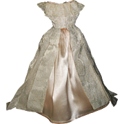 Pretty Vintage Fashion Doll Gown, Pink and Silver