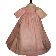 Sweet Early Pink and White Polka Dot Doll Dress