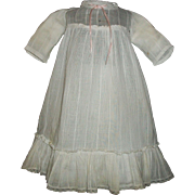 Sweet Antique Doll Dress, Large Ruffle