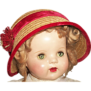 Nice Vintage Straw Hat for a Large Vintage Doll
