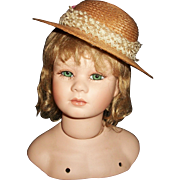 Nice Vintage Straw Doll Hat