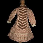 Pretty Pink Floral Cotton Fashion Doll Dress