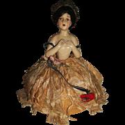 Charming Vintage Pin Cushion Half Doll
