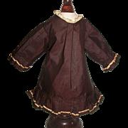 Vintage Silk Fashion Doll Dress / Coat