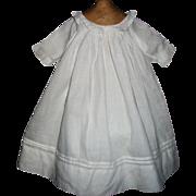 Pretty Antique White Lawn Doll Dress, Kestner, Handwerck