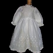 Wonderful Antique Batiste Doll Dress, Kestner, Handwerck