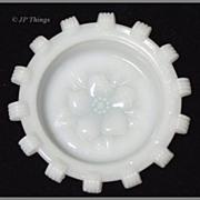 Milk Glass Coaster Apple Blossom Design By Hazel Atlas Glass