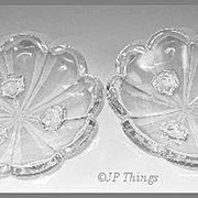 SALE Krys-Tol Chippendale Pair of Three Footed Bowl
