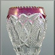 US Glass New Hampshire Vase with Rose Stain a.k.a. Maidens Blush