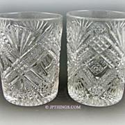 EAPG Tacoma Tumbler Pair Greensburg & National Glass Co