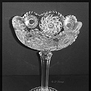 EAPG Westmoreland Glass No 575 a.k.a. Fern Wheel a.k.a Paddle Wheel Tall Compote