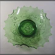 EAPG Green Northwood's Glass Poppy Variant a.k.a. Poppy Scroll Novelty Dish