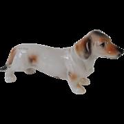 SOLD Light Haired Dachshund Dog Ardalt Lenwile China Porcelain Figurine