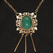 Whiting & Davis Medallion Necklace