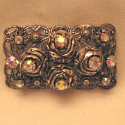 Aurora Borealis Brooch & Earrings Germany