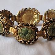 Gorgeous and Unique Crushed Jade Bracelet