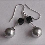 Beautiful Sterling Silver Swarovski Earrings
