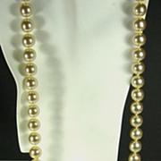 SALE Vintage Kenneth Jay Lane Imitation Pearl Necklace