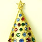 Vintage Hattie Carnegie Christmas Tree Pin